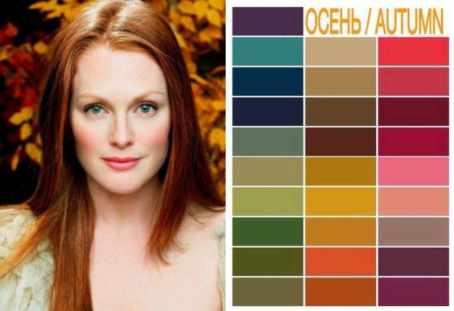 цвета для цветотипа осень